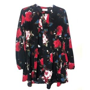 Altar'd State | Floral Long Sleeve Holiday Dress